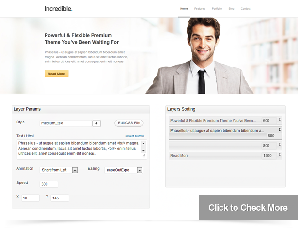 Incredible - Responsive WordPress Theme